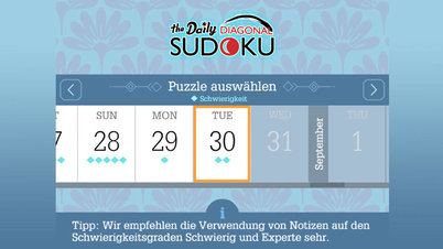 Daily Diagonal Sudoku - Screenshot