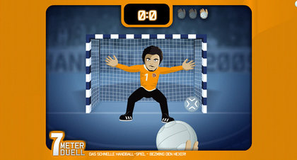 Handball - 7 Meter Duell - Screenshot